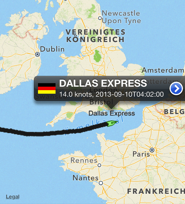 Dallas_Express_Ärmelkanal