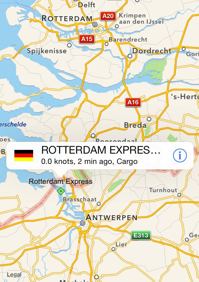 Ankunft in Antwerpen, Belgien
