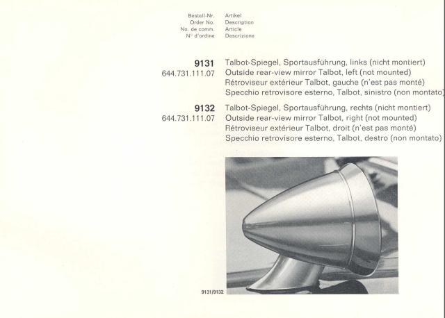 Zubehörkatalog (Auszug) aus 1965