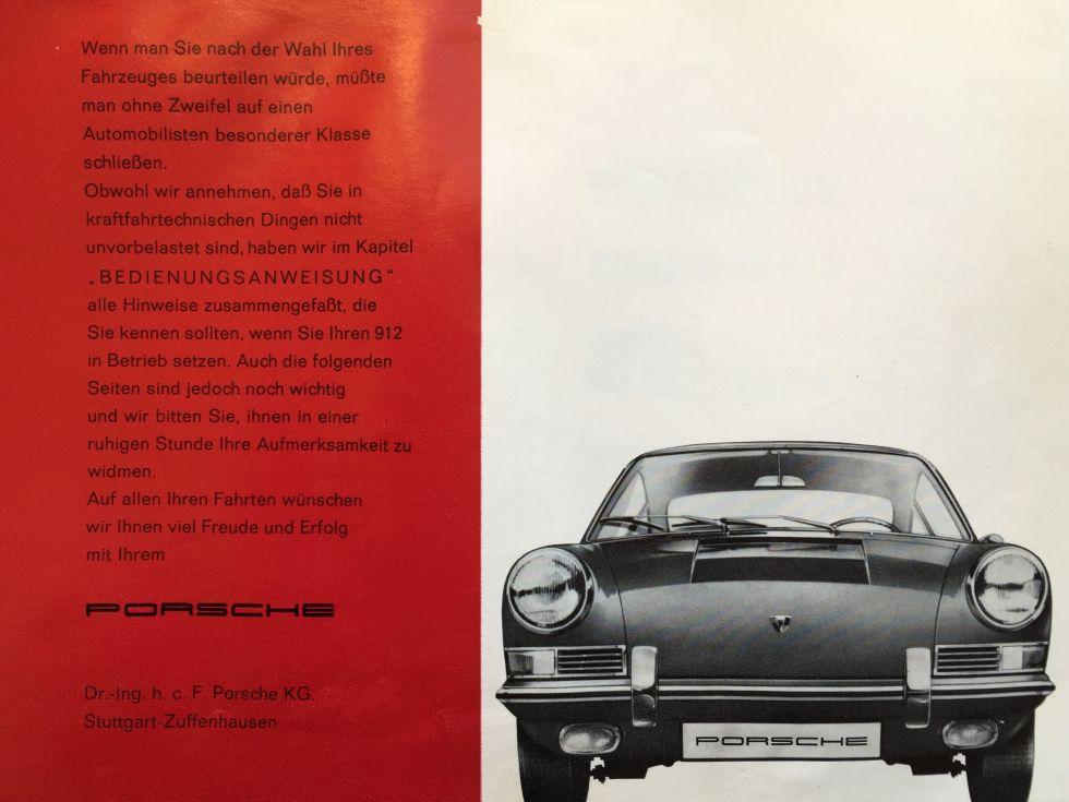 Porsche 912 Bedienungsanleitung - Seite 3